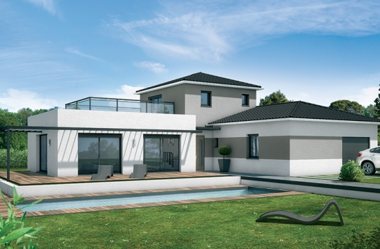 Contemporaine votre maison moderne villas et maisons for Modele de villa contemporaine